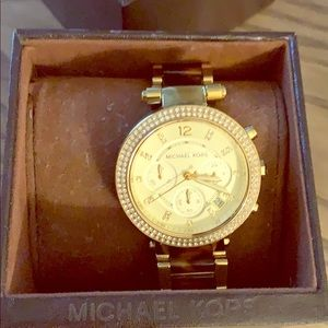 Michael Kors Parker Gold Tortoise Watch